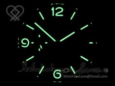 Superlumed dial and hands (lumed with genuine Super-LumiNova); Flush Cannon Pinion as per genuine.