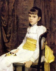a-little-girl-Cecilia Beaux (1855 – 1942, American)