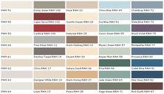 lowes paint color chart | house paint color - chart, chip