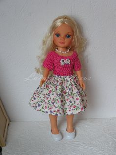 Habit pour poupée type Nancy de Famosa : Jeux, jouets par laines-et-tissus