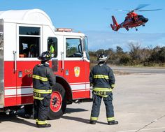 U.S. Coast Guard Air Station Atlantic City, Station Cape May, Maritime Safety and Security Team New York, and Training Center Cape May Fire Department conduct training to maintain proficiency in order to respond to real world front line contingencies.