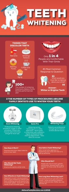 Whiter Teeth with Abilene Family Dentists Infographic #Infographics