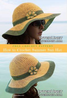 How to Crochet Summer Sun Hat Free Pattern & Video | DIY