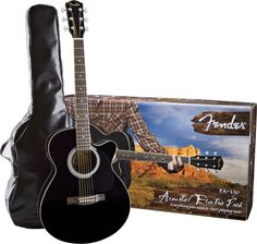 Fender FA-130 Acoustic-Electric Guitar Pack Black