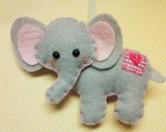 Érezte Elefánt dísz - Egyedi dísz - Felt Állat - Elefánt - Elephant Decor - Elephant dísz - Egyedi Ajándék