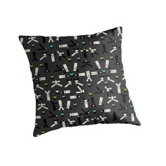 Throw pillow. Artwork: Thoughtful greyish by Anna Sköld at Lumumma infodesign.Check out more products with this artwork on at www.redbubble.com