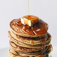 2 ingredient Healthy Pancakes (gluten, grain and dairy free, no added sugar): 1 large banana, mashed (should be around 1/3 to 1/2 cup when mashed)  2 eggs