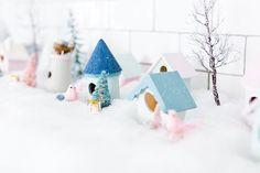 Deck the Halls: DIY Pastel Winter Village