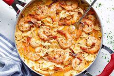 Try our most popular recipes! Garlic Pork Chops in Creamy Mushroom SauceInstant Pot Creamy Garlic Parmesan Chicken PastaFajita Chicken CasseroleInstant Pot Keto Tuscan SoupCrock Pot Lemon Garlic Butter ChickenRoasted Garlic . Creamy Shrimp Pasta, Garlic Shrimp Pasta, Shrimp Pasta Recipes, Seafood Recipes, Cooking Recipes, Food Shrimp, Shrimp Avocado, Seafood Pasta, Cooking 101