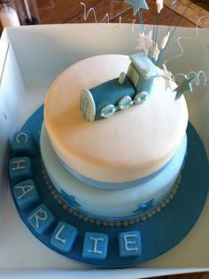 Blue Train Christening cake