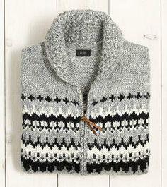 J.Crew Alpaca Fair Isle Full-Zip Sweater