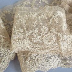 vintage french lace trim | Vintage-FRENCH-Alencon-Needlepoint-LACE-Trim-Ecru-2-Wide-56-Long-DOLLS ...