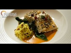 Chef Vivek Singh creates modern Indian inspired halibut, grouse and poached pear recipes