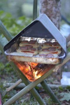 Una lata cocina de campamento, genial.