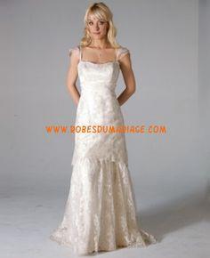 Janet Nelson Kumar bretelles simple 2012 A-line robe de mariée dentelle