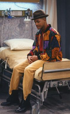 Pharrell Williams' Hat Inspo? from Will Smith's Craziest Looks on The Fresh Prince of Bel-Air