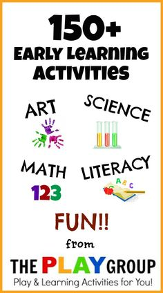 150+ Early Learning Activities