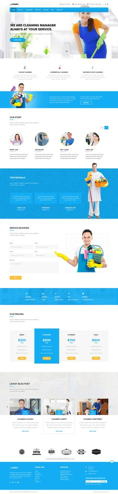 Jharu is a premium #PSD template is designed specially for #Cleaning Service #website download now➯ https://themeforest.net/item/jharu-cleaning-service-psd-template/16928681?ref=Datasata