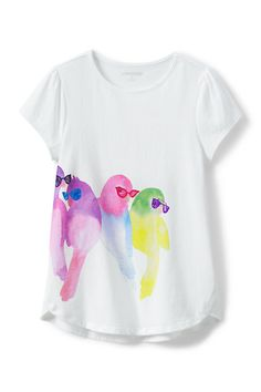 Girls Aline Novelty Graphic Knit Tee