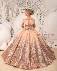 Blush Flower Girl Dress with Sparkling Sequins – Birthday Wedding Party Holiday Bridesmaid Flower Girl Blush Dress – Ideas Flowers Blush Flower Girl Dresses, Blush Dresses, Little Girl Dresses, Bridesmaid Dresses, Prom Dresses, Lace Flower Girls, Formal Dresses, Wedding Dresses, Gowns For Girls