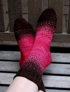 This sock pattern provides a great introduction to stranded knitting. My Mom and I shared two skeins of Malabrigo sock yarn and challenged each other to create a unique two-color design. - Crochet and Knit Love Knitting, Knitting Socks, Hand Knitting, Knitting Patterns, Knitting Machine, Vintage Knitting, Stitch Patterns, Crochet Ideas, Mittens