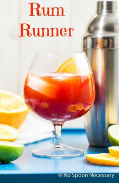 Rum Runner - This Fruity Island Cocktail is Perfect to Enjoy outside as you Soak up the Summer Sun!