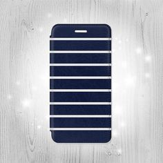 Navy White Striped iPhone 6S 6 Plus 6 SE 5 5S 5C 4 by Lantadesign