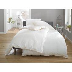 Lorena Damast Mako-Satin Streifen Bettwäsche Toscana 2mm weiß