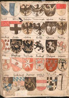 Wernigeroder (Schaffhausensches) Wappenbuch Süddeutschland, 4. Viertel 15. Jh. Cod.icon. 308 n  Folio 260v
