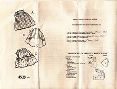 1950's Sewing Pattern  Newspaper Patterns of  by jennylouvintage