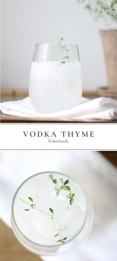 Vodka Thyme Lemonade is a delicious spring and summer time cocktail. It's flavor is simple and beautiful and easy to mix up anytime! #vodka #vodkacocktails #vodkathymelemonade #cocktails
