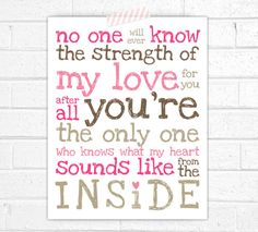 The strength of my love for you  Nursery Art by CoCoStineDesigns, $15.00