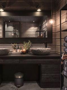 Bathroom Wall Decor, Bathroom Interior Design, Luxury Modern Homes, Cabin Interiors, A Frame House, Rustic Bathrooms, Wooden House, Scandinavian Home, Log Homes