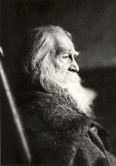 Samuel Murray, portrait of Walt Whitman, 1891. One of the last pictures ever taken of him.