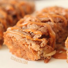 These apple cake bars are super moist and full of cinnamon apple goodness!