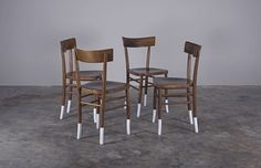 Walnut dining chairs - Etsy