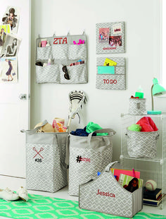 For the Kids - Personalizing their space - Dorm Room www.funkytotesandpurses.com