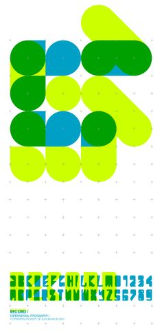 Experimental.Typo_Record by AtoBGraphics (aka Mancunian designer Alex Banks)