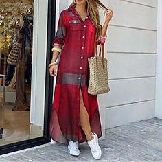 Long Sleeve Maxi, Half Sleeve Dresses, Knee Length Dresses, Dresses With Sleeves, Loose Dresses, Maxi Dresses, Dress Long, Full Sleeves, Long Sleeve Polo
