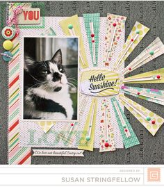 Springtime Layout | Susan Stringfellow | Hey Collections