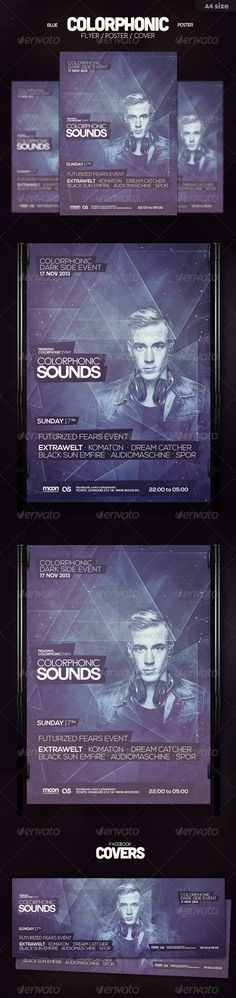 Blue Colorphonic Flyer - Clubs & Parties Events