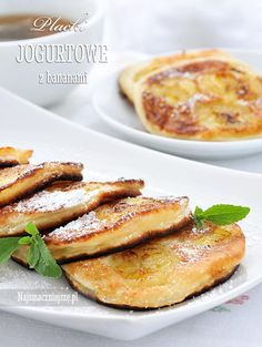 Placuszki jogurtowe z bananami Baby Food Recipes, Cooking Recipes, Yummy Food, Tasty, Polish Recipes, Healthy Sweets, I Foods, Baked Goods, Biscotti