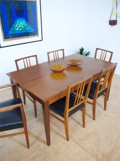 Beautiful Large Mid Century Afromosia Dining Table by Hands / Vintage Heals