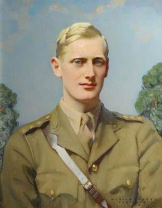 Ronald Orlando Lawrence Kay-Shuttleworth (1917–1942), 3rd Baron Shuttleworth, K.I.A. / by Harold Speed.