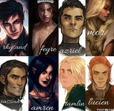 ACOTAR crew I don't like Feyre or Tamlin or Lucien but the others are top notch A Court Of Wings And Ruin, A Court Of Mist And Fury, Feyre And Rhysand, Sarah J Maas Books, Throne Of Glass Series, Crescent City, Fan Art, Fiction, Book Fandoms