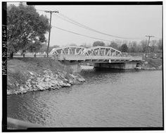 The old blue bridge over Belleville Lake, in Belleville, Michigan, where I grew up. The bridge was sold and moved to a city in Michigan, replaced with a modern bridge.