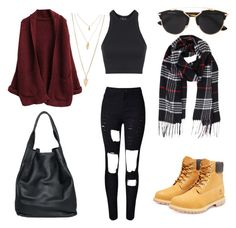 """""""Untitled #518"""" by aatk on Polyvore featuring Topshop, Timberland, Christian Dior, Humble Chic, christopher. kon, Forever 21, women's clothing, women, female and woman"""
