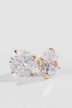3 Carat Classic Crystal Stud Earrings