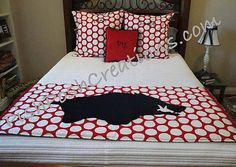 Go Razorbacks Bed Runner Set by pishposhcreations on Etsy, $140.00...want this for guest room.