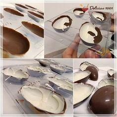 Meu filho Raphael vive aprontando na cozinha. Desta vez, ele trouxe a ideia de fazer ovo de chocolate ao leite com branco, o famoso kinder ovo. Sei que estamos fora de época, que a Páscoa já se foi…